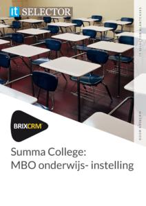 Klantcase BrixCRM Summa College - IT Selector