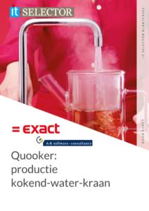 Klantcase Quooker Exact AB Software - IT Selector