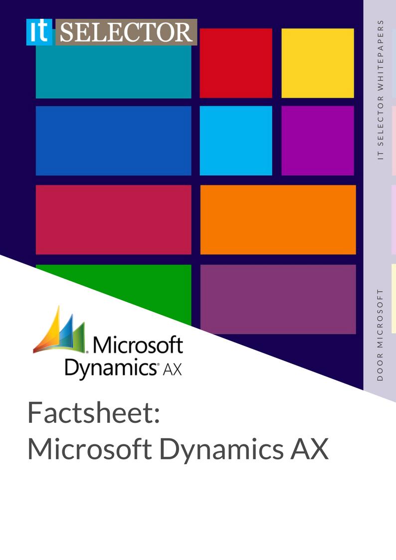 Whitepaper Factsheet: Microsoft Dynamics AX - IT Selector