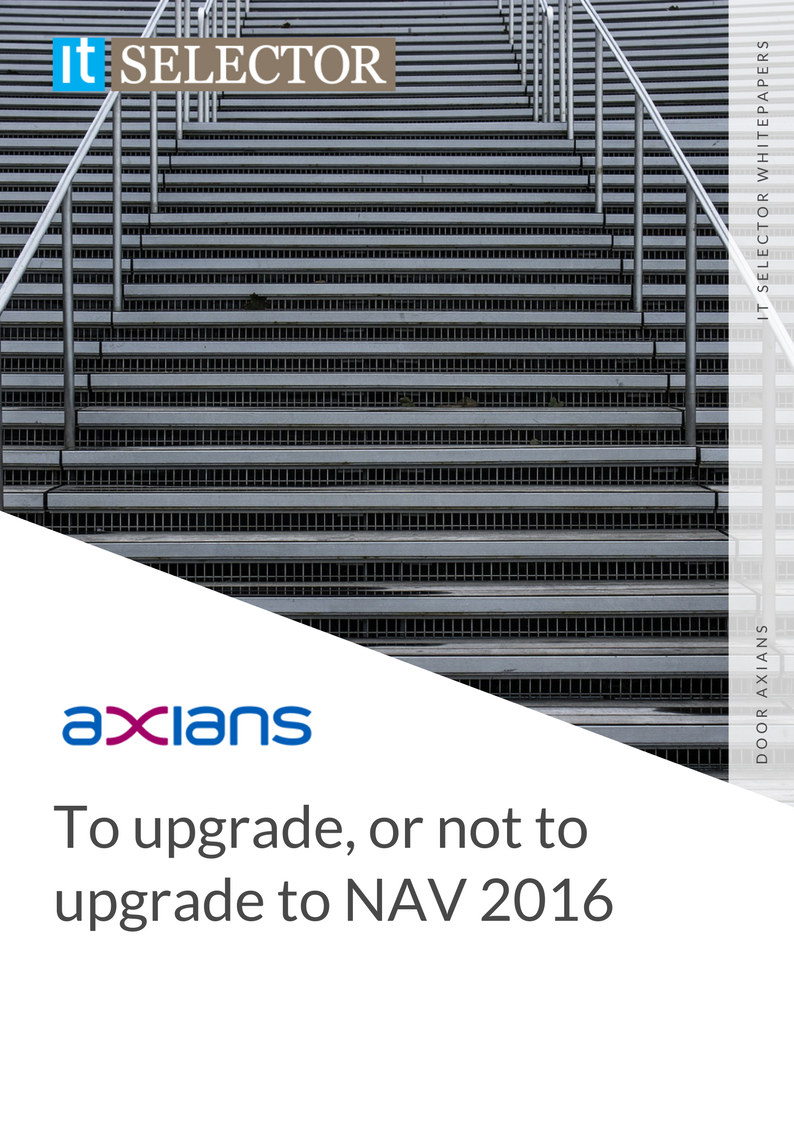 Whitepaper Axians upgrade to NAV 2016 - IT Selector